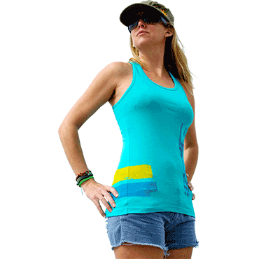 T-SHIRT LADIES LIGHT BLUE TANK TOP
