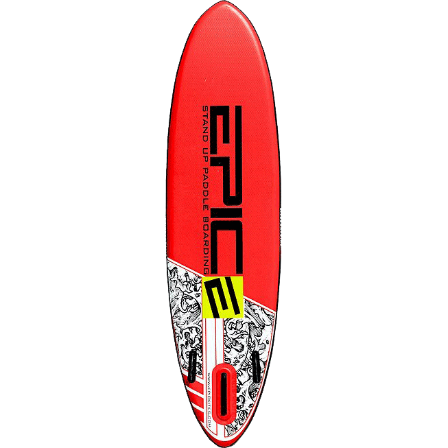 """Inflatable Stand Up Paddleboards (SUP) 10'0"""" (RED) Back"""