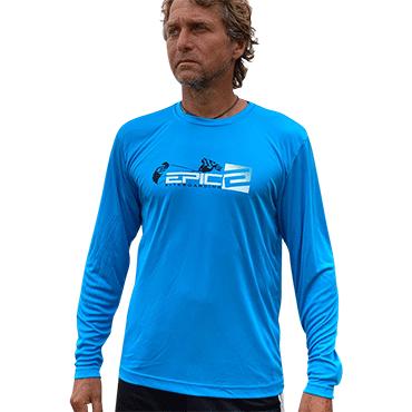 Blue Sport Performance Long Sleeve T-Shirt