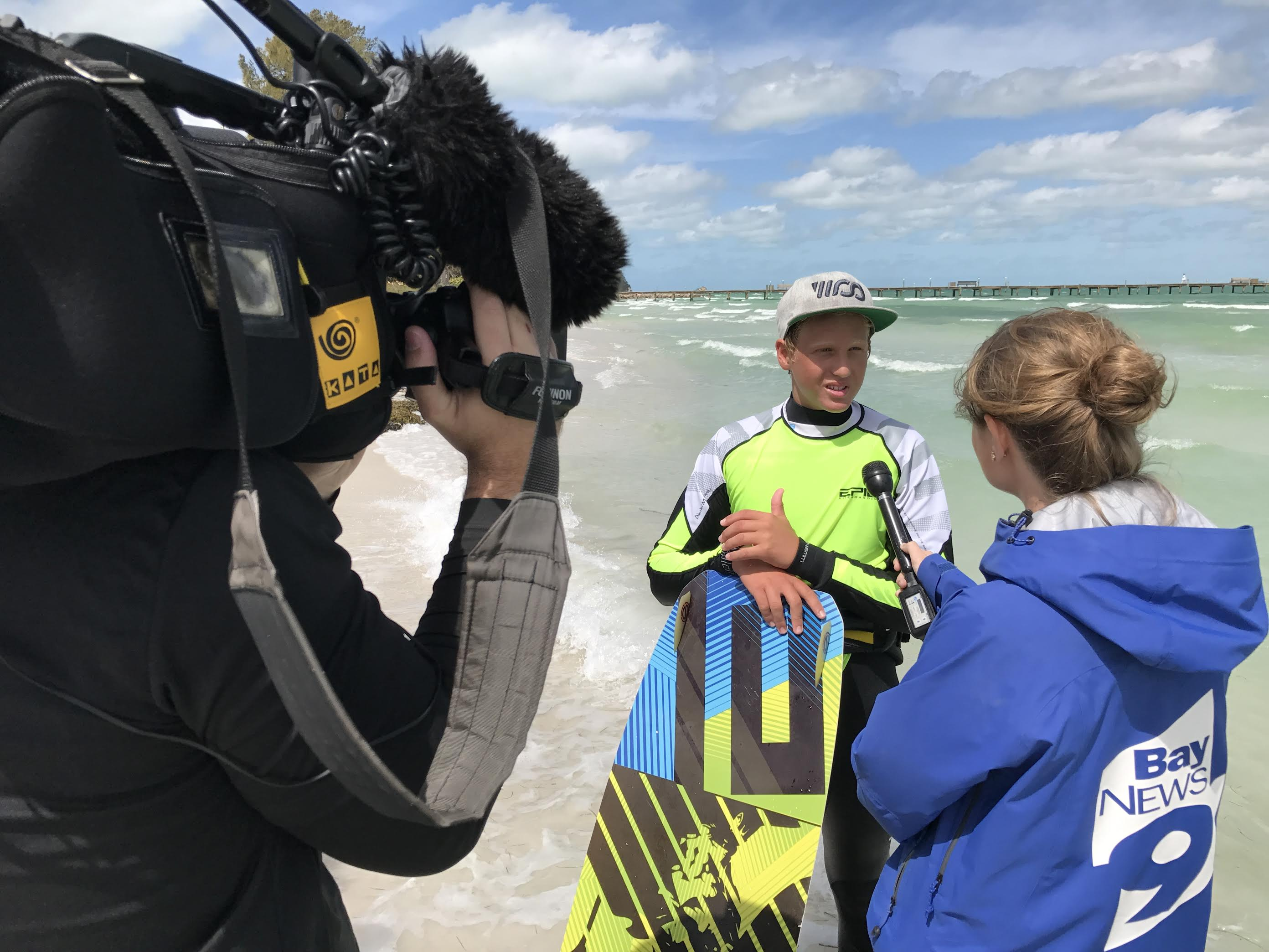 14-year-old shines in professional kiting world