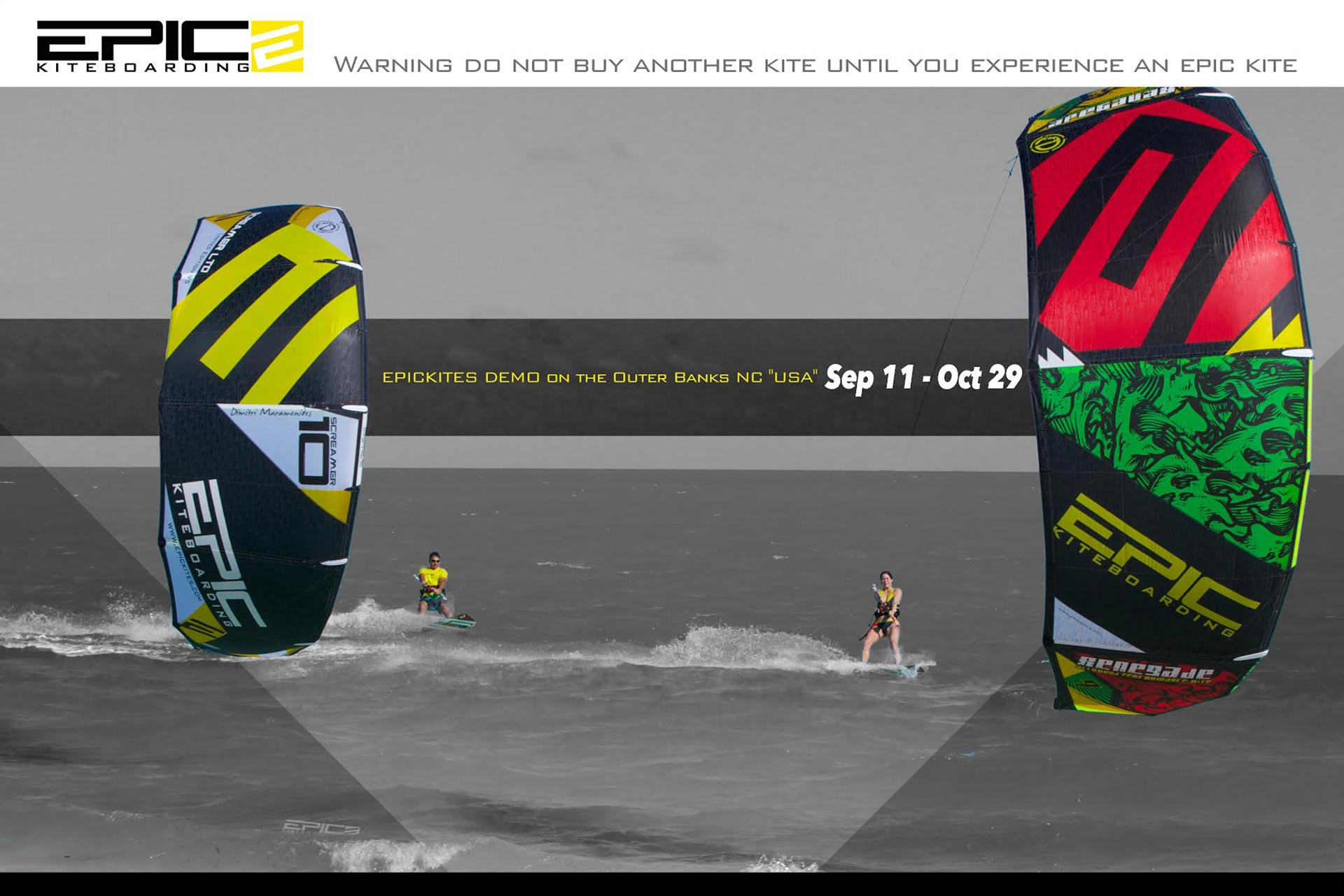 Epic Kites Demo on the Outer Banks NC USA - Sept 11 - Oct 29