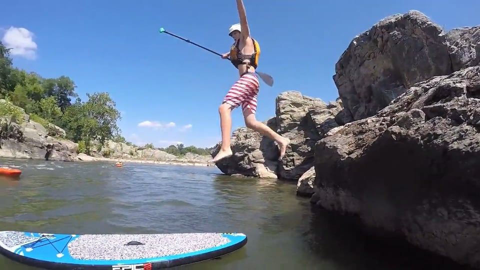 SUP in the rapids