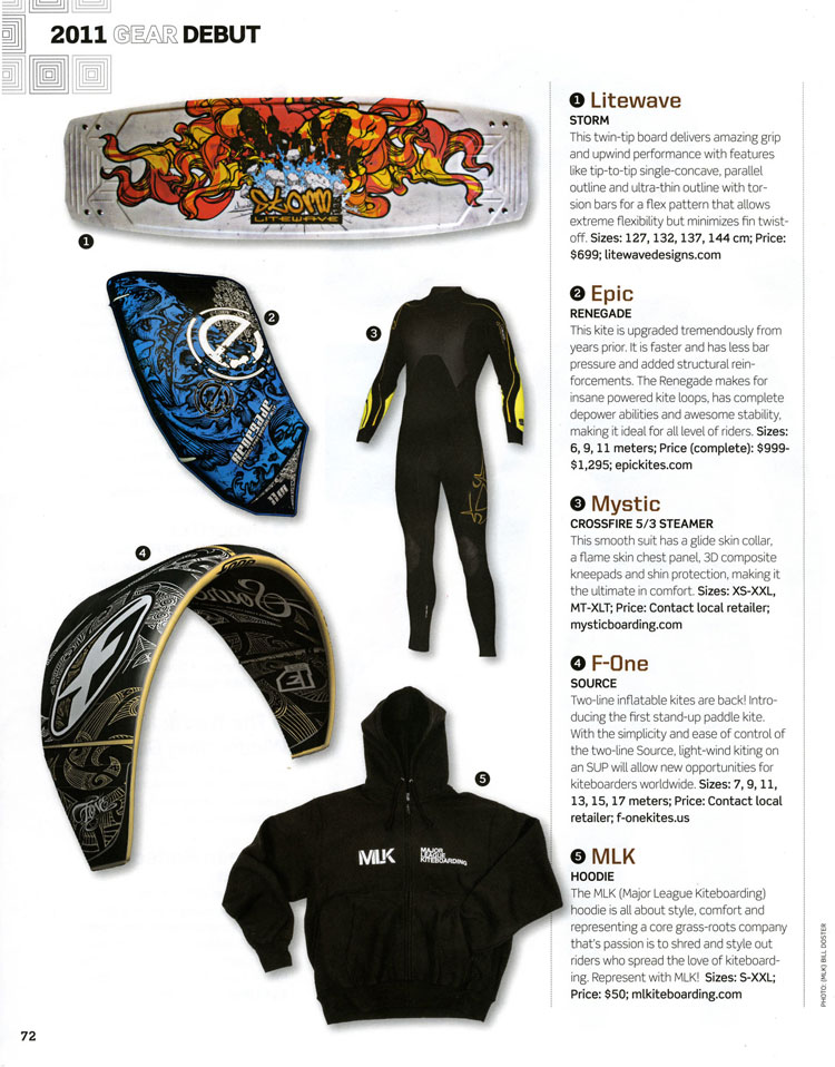 EPIC KITES KITEBOARDING | PRESS | Epic Renegade Review 6, 9, 11