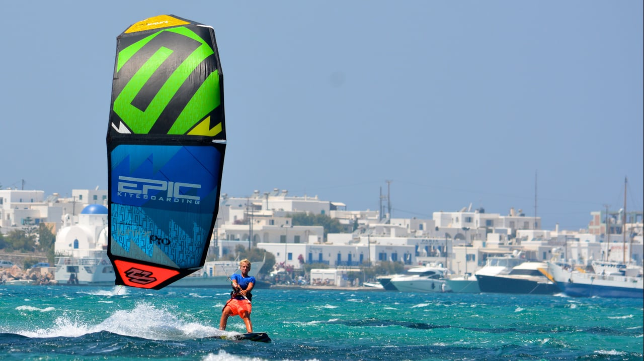 14 yrs old ripper cameron maramenides - with Epic Kites Kiteboarding