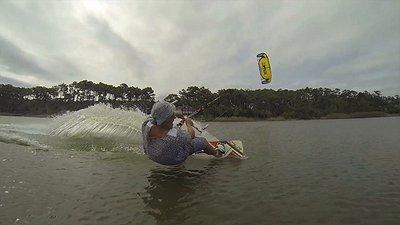 Granny De is back kiteboarding video
