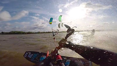 Ways to relaunch in the water after crashing your kite video