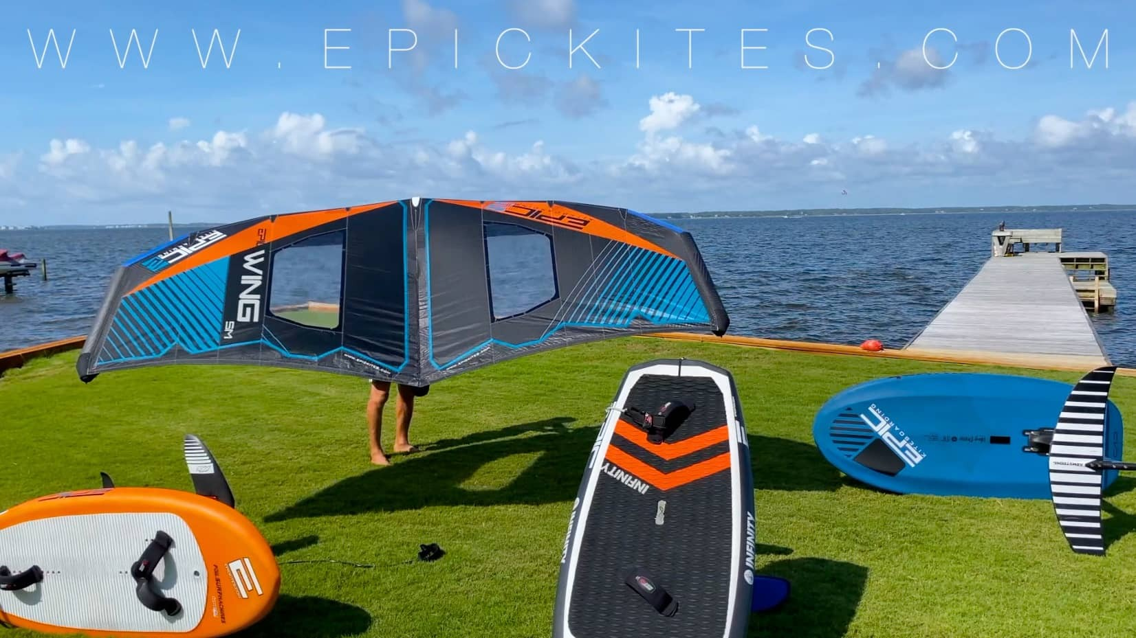 Cameron trying to Wing - with Epic Kites Kiteboarding
