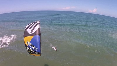 Testing the FEATHER 9.5m kite video