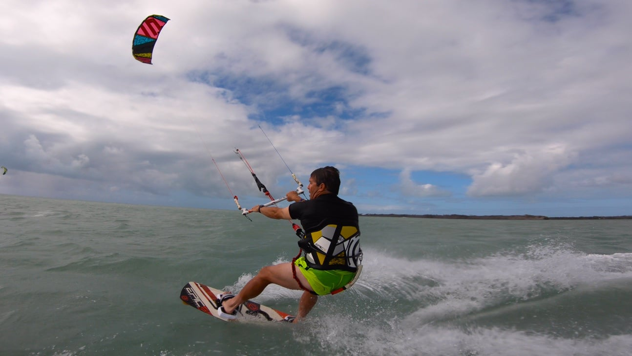Dimitri Boot Camp with Tennis coach Ashley - with Epic Kites Kiteboarding
