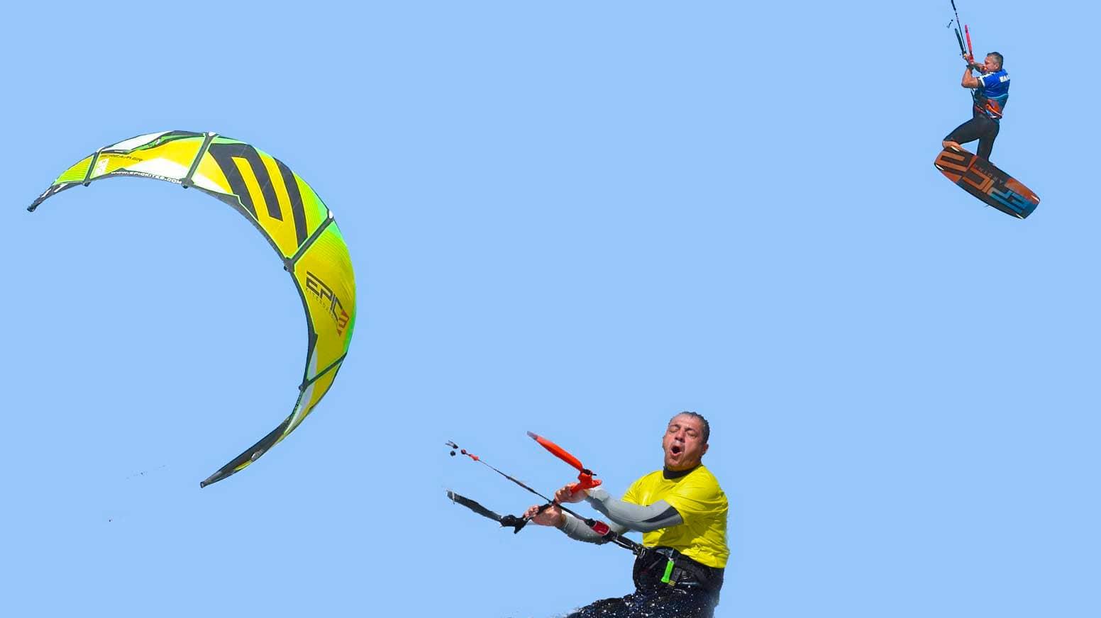 Dumb and Dumber kitesurfing - with Epic Kites Kiteboarding