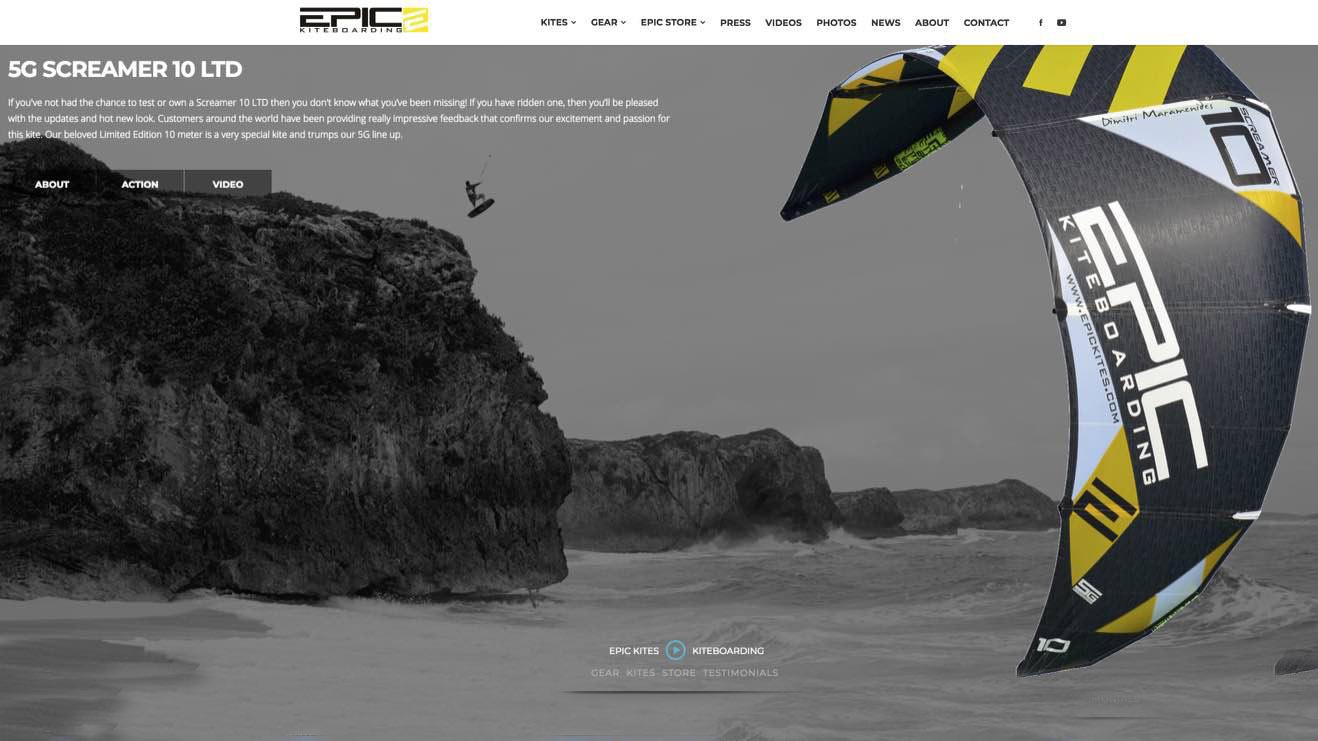 Epic Kites Screamer 10 LTD - The Boss - with Epic Kites Kiteboarding