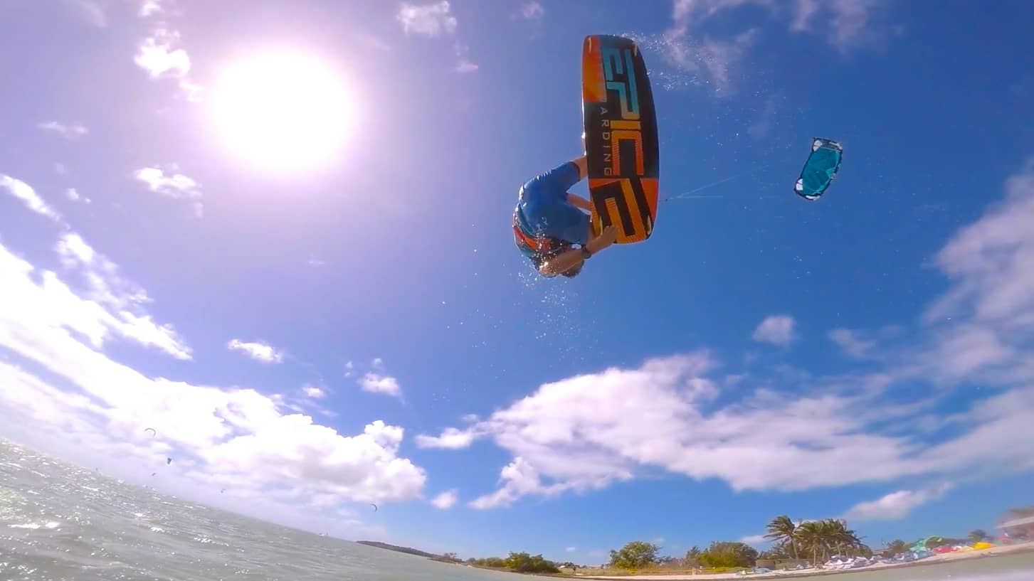 Father and Son kitesurfing in the Keys FL - with Epic Kites Kiteboarding