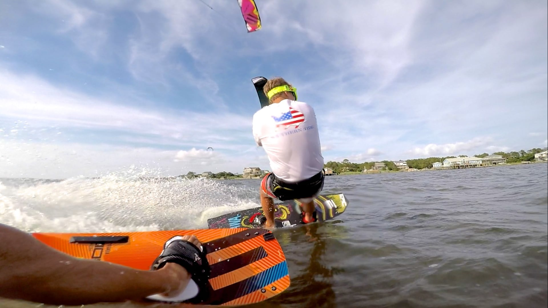 Father & Son kiteboarding racing - with Epic Kites Kiteboarding