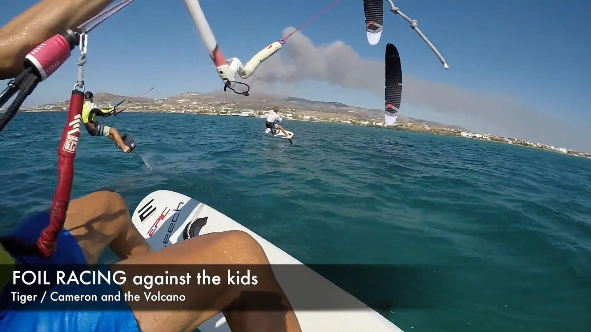 Foil jibing gone bad - with Epic Kites Kiteboarding