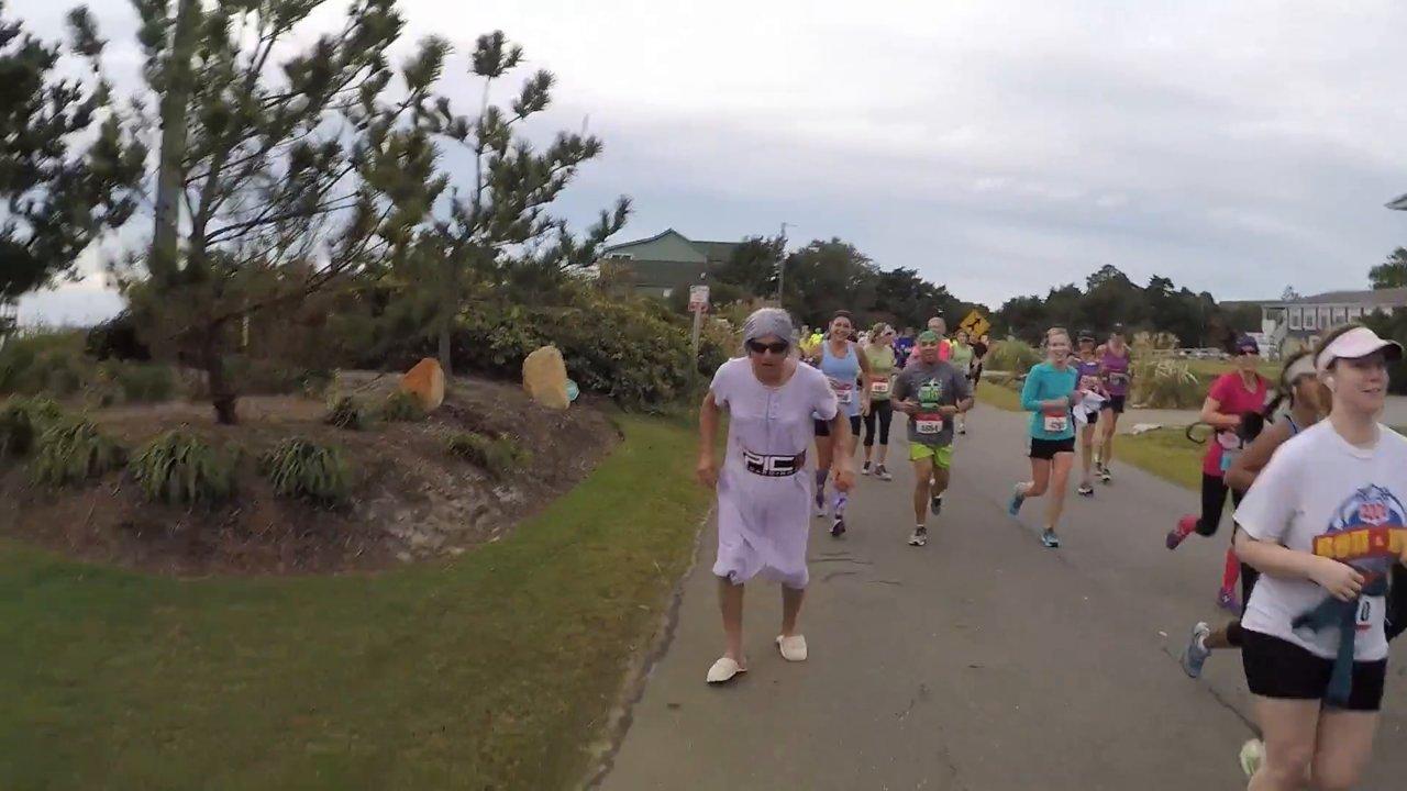 Granny dee running the marathon - with Epic Kites Kiteboarding
