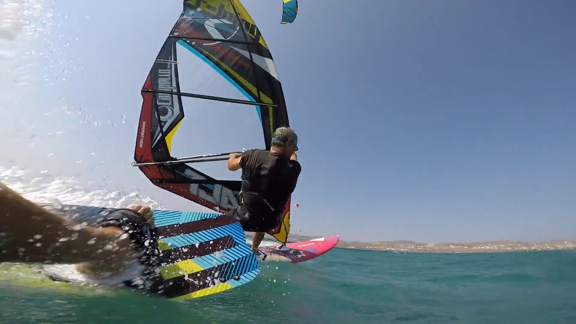 Greek Kiter going off on Greek Windsurfer - with Epic Kites Kiteboarding
