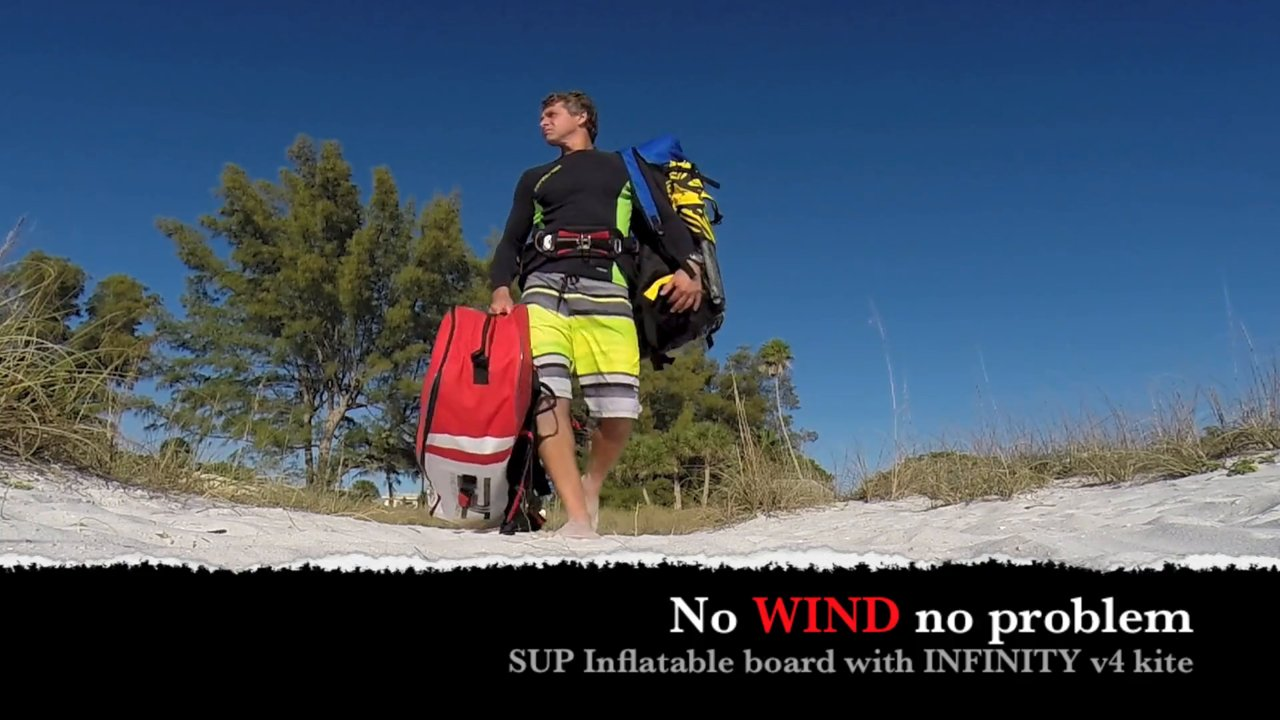 Having fun on the sup inflate board w infinity v4 kite - with Epic Kites Kiteboarding