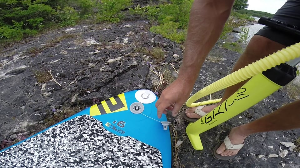 How to inflate the sup board - with Epic Kites Kiteboarding