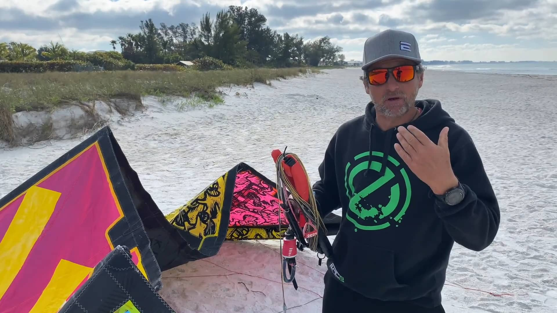 How to set up your kite Bar using an anchor - with Epic Kites Kiteboarding