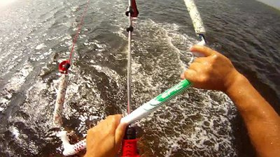 Kiting during Hurricane Florence video
