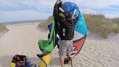 How to set up your kite and launching