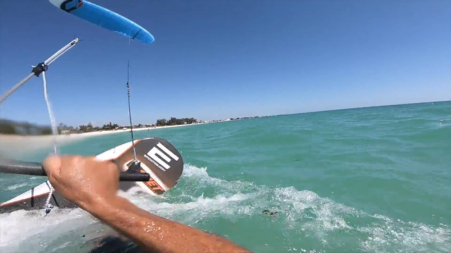 How to water start in light wind using your Foil Kite race gear - with Epic Kites Kiteboarding
