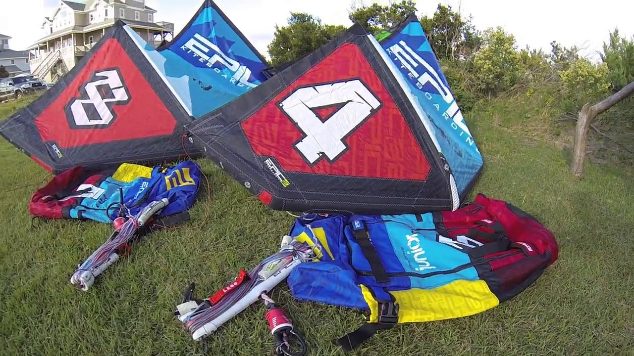 Junior pro 8 and 4 demos.  made for kids and adults - with Epic Kites Kiteboarding