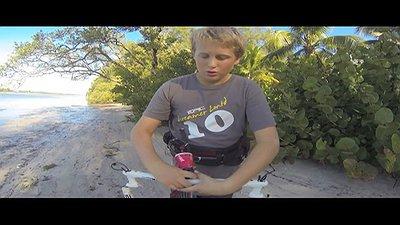 Father & Son kiteboarding racing video
