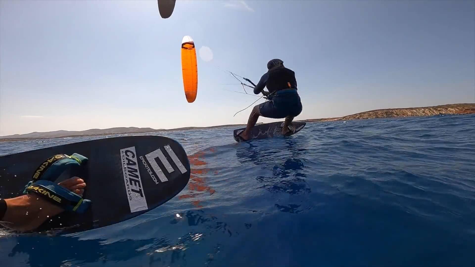KiteFoil racing on the island of Paros - with Epic Kites Kiteboarding