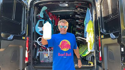 Kitesurfer Drinking Smart