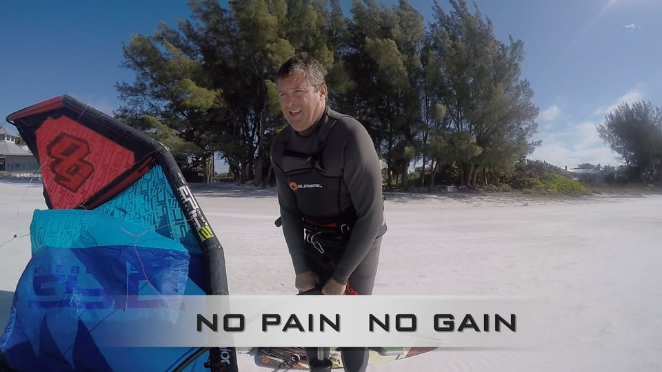 No pain no gain - with Epic Kites Kiteboarding