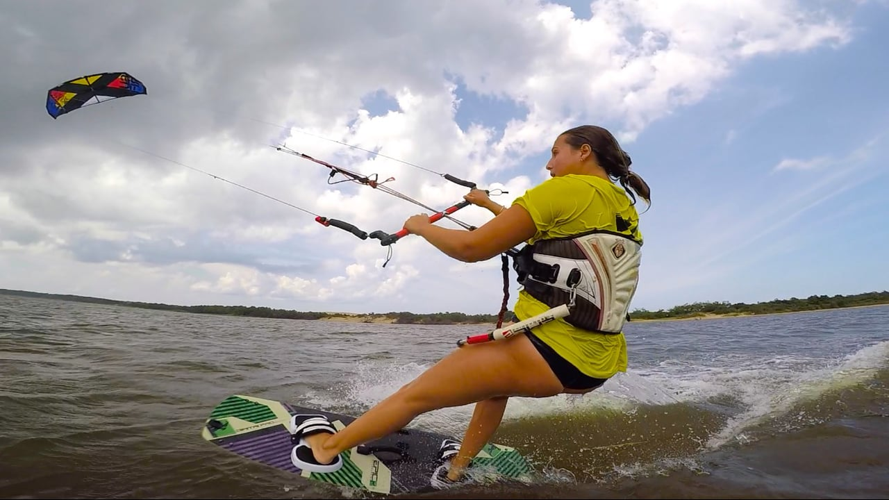 Olivia Boot Camp with Dad - with Epic Kites Kiteboarding