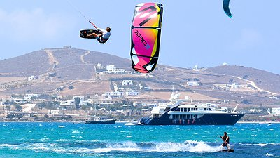 Kiter hitting boat video