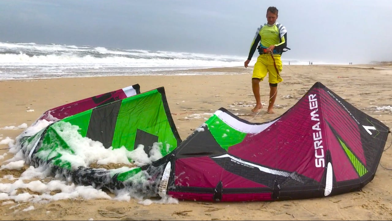 Riding HURRICANE MARIA. Mother nature at its best - with Epic Kites Kiteboarding