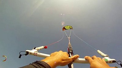 Cameron light wind kitefoiling in Greece video