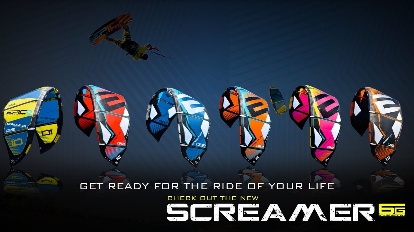 SCREAMER 6G kites - with Epic Kites Kiteboarding