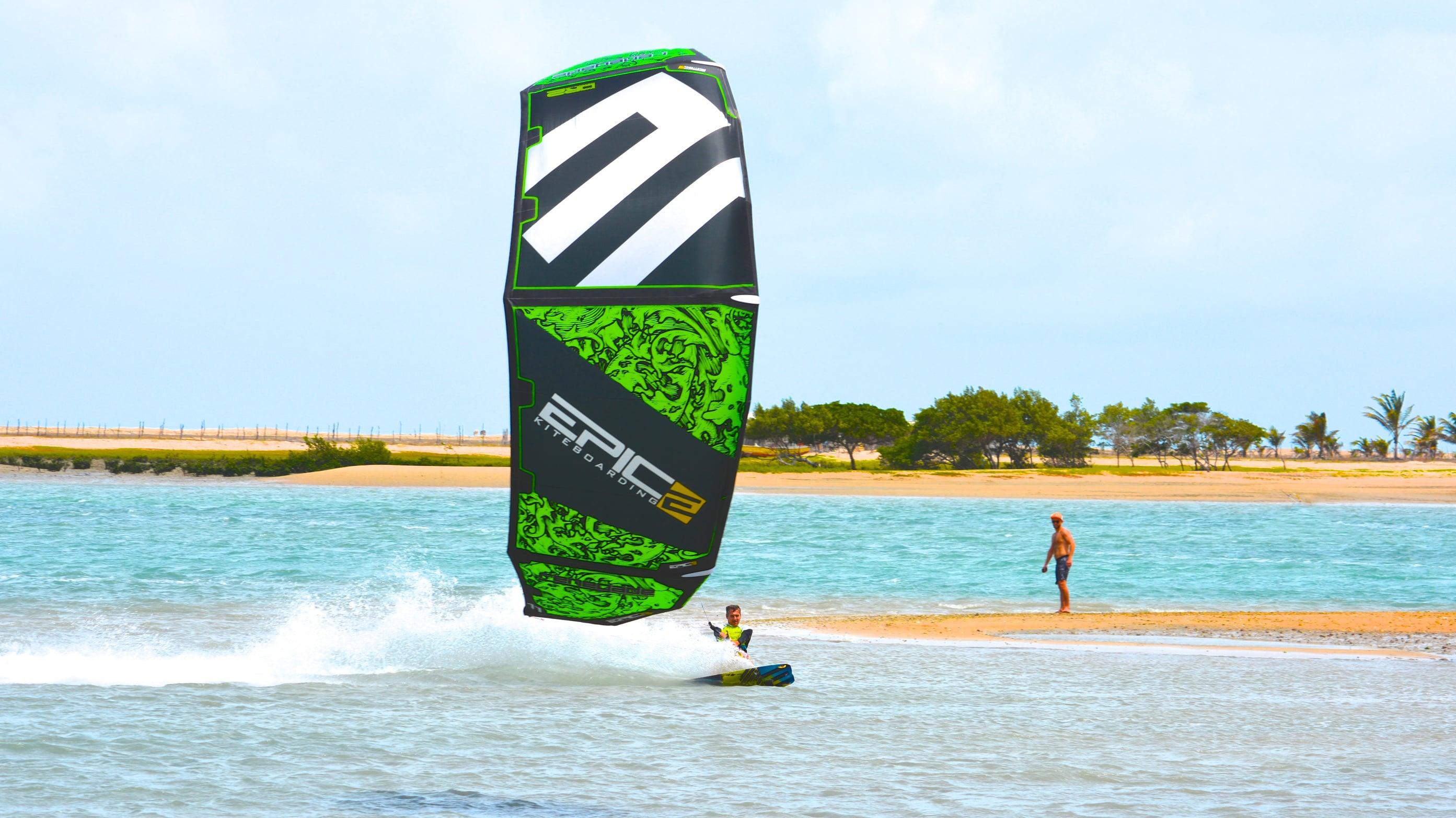 Taking kids to school before kiteboarding - with Epic Kites Kiteboarding