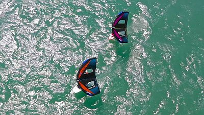 Nothing can't stop a kiteboarder even a soar.... video