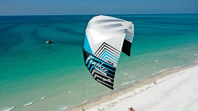 Testing the FEATHER 9.5m kite