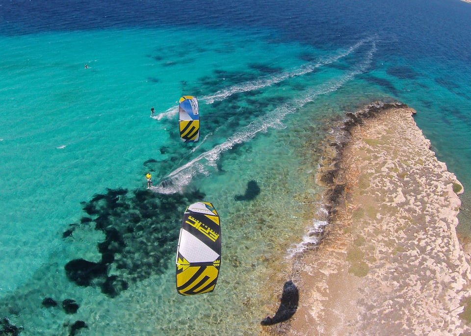 A typical day on the island of paros greece - with Epic Kites Kiteboarding