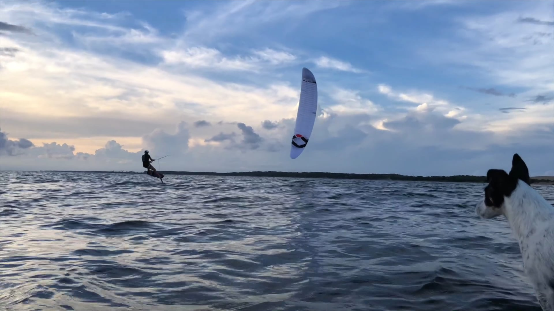 ZEUS CAMET CAMERON epic sunset foiling session - with Epic Kites Kiteboarding