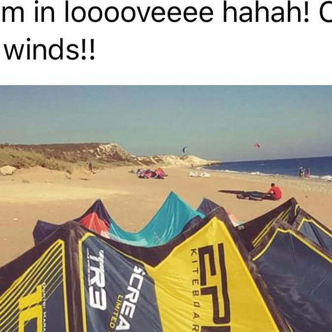 Another happy customer from Cyprus who bought the SCREAMER 10 (6G) kite. #epickites #epickiteboarding #kitesurfing #screamerkites6g #kiting